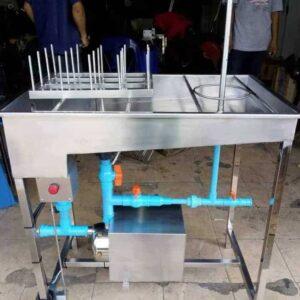 เครื่องล้างถัง +ล้างขวด (มีปั๊ม)